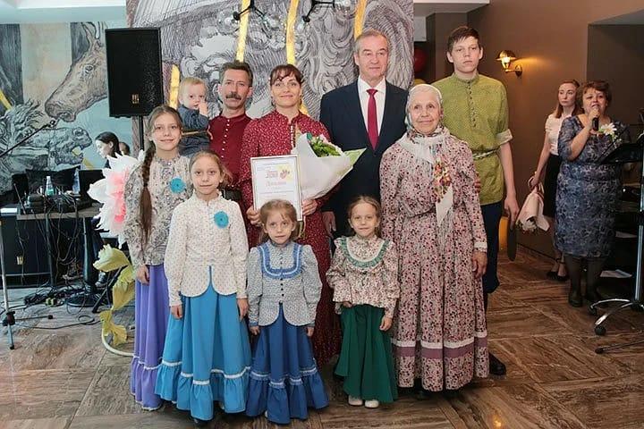 Настоящая русская семья Васильковых.